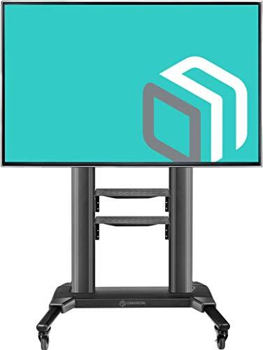 ONKRON Carrello TV da pavimento per shermi da 42' a 80' LCD QLED e TV curvi Supporto TV Universale...