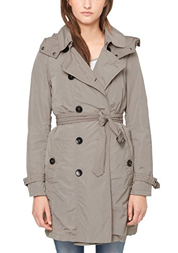 s.Oliver mit Gürtel Trench, Marrone (Dusty Stone 8513), 40 Donna
