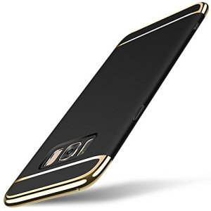 GadgetsWale Galaxy S8, S8 Plus Black Back Cover Ultra Thin Electroplated Gold Plating Case 24  GadgetsWale Galaxy S8, S8 Plus Black Back Cover Ultra Thin Electroplated Gold Plating Case 419r07M7e 2BL