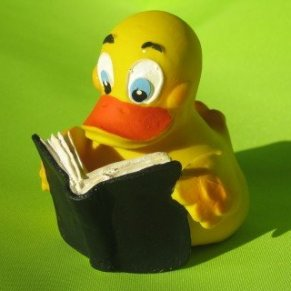 Lanco - Pato para baño, diseño de pato leyendo un libro