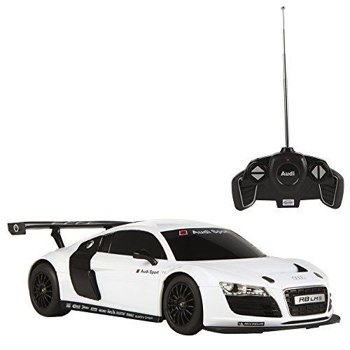 Rastar - Audi R8, coche teledirigido, escala 1:18, color blanco (ColorBaby 85033)