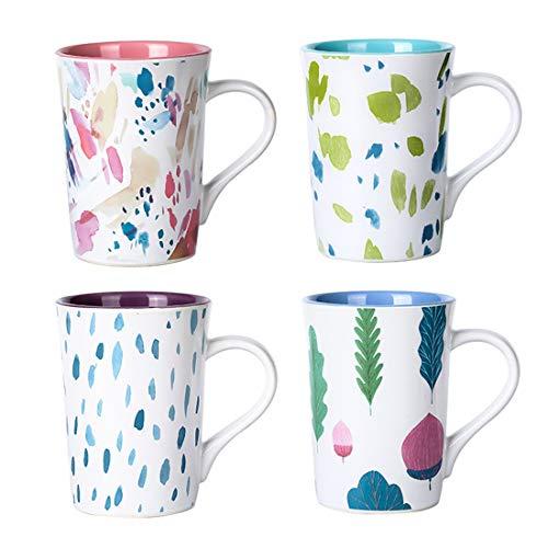 Set di tazze in ceramica in stile pastorale, in porcellana, motivo floreale vintage, set di tazze...