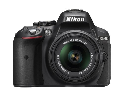 Nikon D5300 Fotocamera Reflex Digitale con Obbietivo Nikkor AF-P 18/55VR, 24.1 Megapixel, LCD HD...