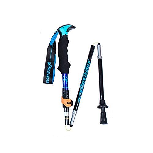 paceleader Bastones de Trekking Ligeros, Plegables, Ajustables y ultraligeros, Excursionismo o montañismo