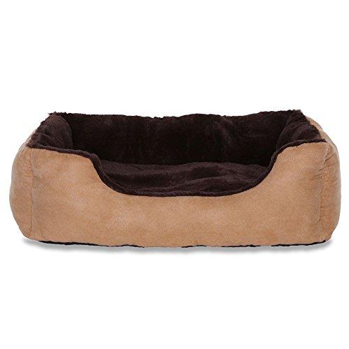 dibea DB00512, Letto per Cani, Divano morbido, Velluto, cuscino reversibile (L) 75 x 60 cm,...