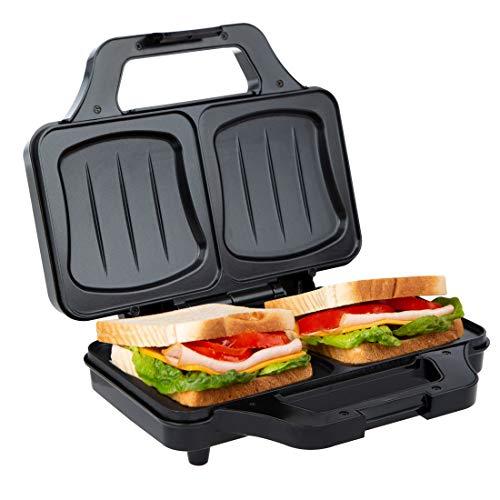 Ultratec Tostapane per Sandwich XXL, con 2 Piastre Grandi per Deliziosi Panini di Tutti i Tipi,...