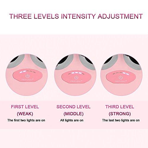 Elektrische Micro-current Vibration Y Shape 3D Roller Face Massager Lifting Tighten Device, Facelift Massagegerät Faltenschwellung Entfernung Hautpflege Gerät - 5