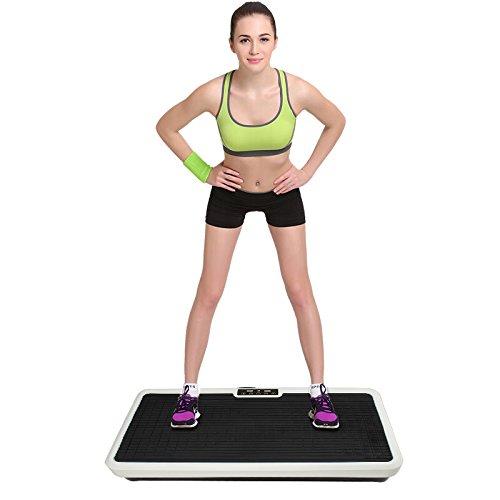 Flyelf Fitnessplatte Vibrationstrainer für den Büro-Wohnzimmer-Körper-Former, der Eignungs-Ausrüstung abnim (Schwarz)