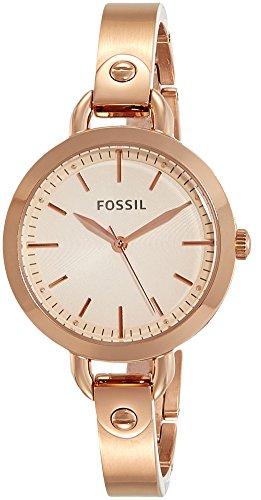 Fossil Analog Rose Gold Dial Women's Watch-BQ3026