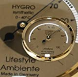 Lifestyle-Ambiente Profi-Haarhygrometer gold-klein Made in Germany