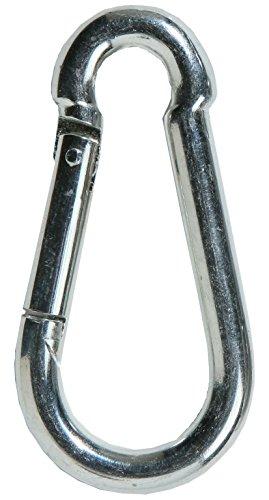 10pieza SBS® mosquetón 5x 50mm Fácil mosquetón acero galvanizado DIN 5299