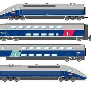 Jouef HJ2362S SNCF TGV 2N2 Euroduplex 4 Car EMU VI (DCC-Sound) 41AH7WJp5DL