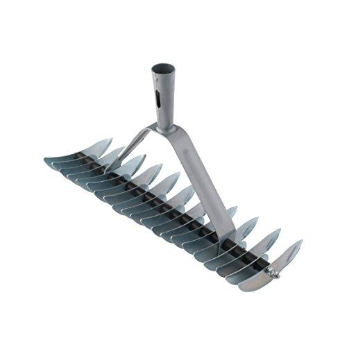 Xclou Rastrello a 32 denti in acciaio e steli conici - Rastrello da giardino in metallo per...