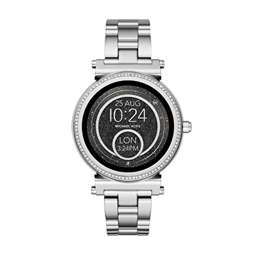 Michael Kors Damen Digital Smart Watch Armbanduhr mit Edelstahl Armband MKT5020