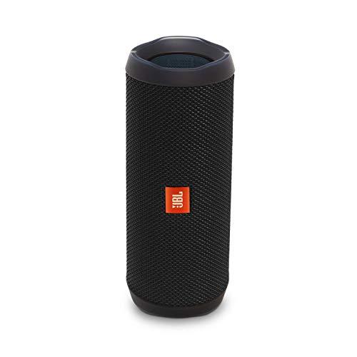 JBL Flip 4 Bluetooth Box in Schwarz - Wasserdichter, tragbarer Lautsprecher mit Freisprechfunktion & Sprachassistent - Bis zu 12 Stunden Wireless Streaming mit nur einer Akku-Ladung