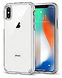 Kaufen Spigen [Ultra Hybrid iPhone X Hülle, Einteilige Transparent Handyhülle Durchsichtige Rückschale mit Silikon Bumper Schutzhülle Case (Crystal Clear)