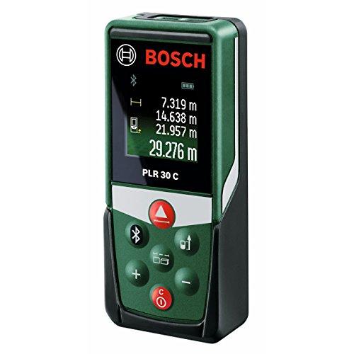 Bosch Télémètre Laser Connecté PLR 30 C Connexion Bluetooth, Portée 30...