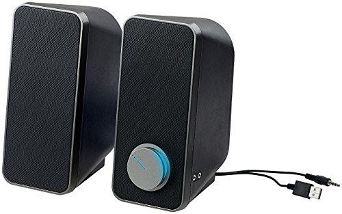 auvisio Computerlautsprecher: Stereo-Lautsprecher mit USB-Stromversorgung, 24 Watt, 3,5-mm-Klinke (Aktive Lautsprecher)