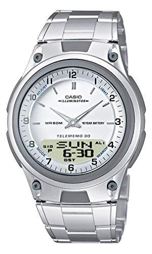 Casio Orologio analogico-Digitale al Quarzo Unisex con Cinturino in Acciaio Inox AW-80D-7AVES