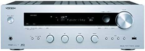 Onkyo TX-8130 (S) Netzwerk-Stereo-Receiver (110W/Kanal, Phono, 384kHz/32-Bit DAC, Hi-Res Audio, Spotify, Deezer, DLNA, RDS) Silber