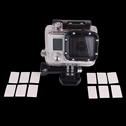 SODIAL(R) 12 pz Foglio Antifog Impermeabile Impermeabile Inserti di riciclaggio per la videocamera sportiva DV Gopro HD Hero 4 3 + 3 2 1