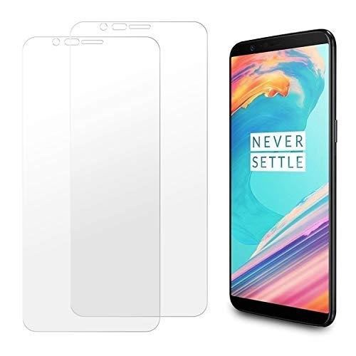 Snnisttek [2 Unidades] Protector de Pantalla OnePlus 5T, 9H Dureza Cristal Vidrio Templado para OnePlus 5T, 0.33mm Ultra Transparencia HD, 3D Touch Compatibles, Instalación Fácil
