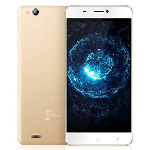 Günstiges Handy Ohne Vertrag, Ken V6 Dual SIM 3G Touchscreen digitales Smartphone (Mobiltelefon 4,5 Zoll Display, 8 GB Speicher, Android 7.0, Batteriekapazität 1700mAh Mobile Phone) - Gold