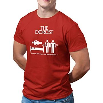 DibuNaif Camiseta Hombre - Unisex película El Exorcista, William Friedkin 6
