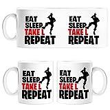 Diver Tazas Taza Eat Sleep Take L Repeat - Cerámica