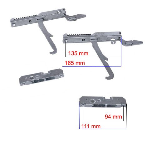 Easyricambi Kit Cerniere forno destra sinistra - forno 90cm KCF5394 SMEG 931330250 931330249