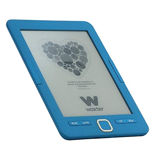 Woxter Scriba 195 - Lector de libros electrónicos de 6' (800 x 600, e-ink pearl pantalla más blanca, EPUB, PDF, micro SD, guarda más de 4000 libros, textura engomada) color negro