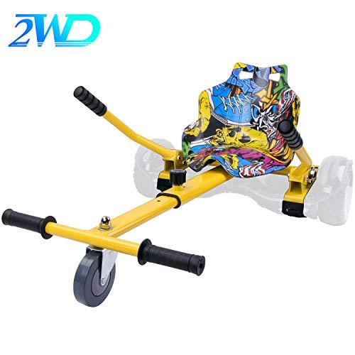 2WD Hoverkart per Hoverboard, Go-Kart Kit di conversione Bilanciamento del motorino, Lunghezza...