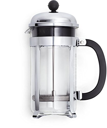 Urban Platter Stainless Steel Tea and Coffee French Press, 650 ml , Black