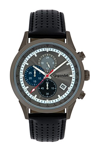 Gigandet Competition Orologio Uomo Cronografo Analogico Quartz Grigio Nero G17-004