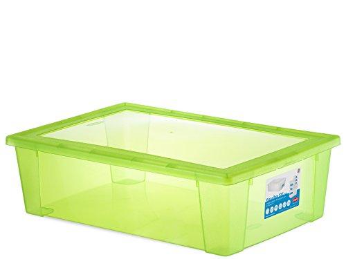 Stefanplast STEFANPLASTScatola Visualbox XXL 59X39X17 Verde Mela Riordino E Lavanderia