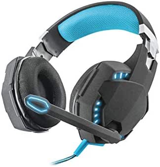 Trust GXT 363 USB Bass Vibration 7.1 Gaming Headset (7.1 Surround Sound, Leistungsstarke 50mm Neodym-Magnet-Treiber, LED-Beleuchtung, geeignet für PC) schwarz