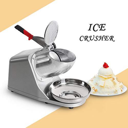 Tritaghiaccio professionale, Ice rasoio elettrico in acciaio INOX, Snow cone Maker macchina per...