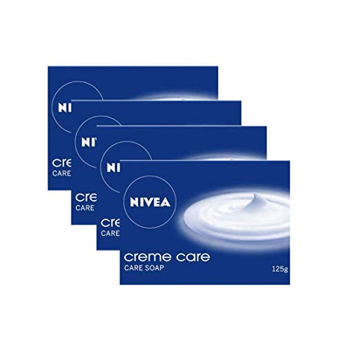 NIVEA Soap, Crème Care, 125g (4 Pieces)