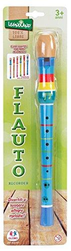 Globo Toys 37114, flauti giocattolo in legno, colori assortiti, 32,5 x 3 x 3 cm, confezione da 1