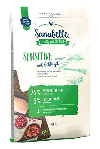 Sanabelle Sensitive mit Geflügel | Katzentrockenfutter für ernährungssensible...