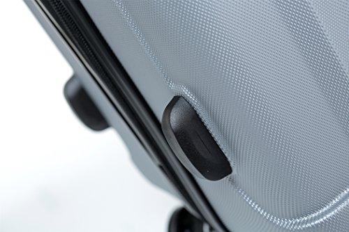 2080 TSA-Schloß Zwillingsrollen 3 tlg. Reisekofferset Koffer Kofferset Trolley Trolleys Hartschale in 12 Farben (Silber) - 5