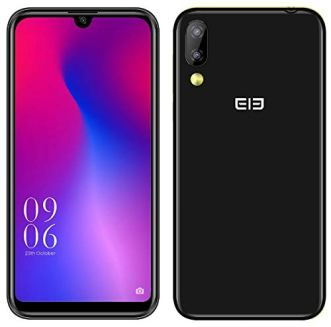 Elephone A6 Mini Android 9.0 4G Dual SIM Móvil Libre - 5.7 '' HD +Pantalla de Muesca de última vanguardia Smartphone,MTK6761 2.0GHz 4GB + 32GB,16MP Cámara Frontal,16MP+2MP Doble cámara Trasera Negro
