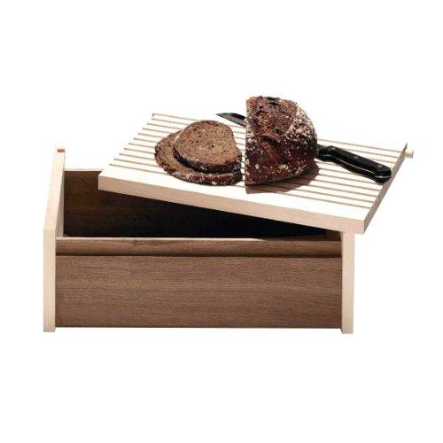Side by Side - Brotkasten Holz - mit Deckel als integriertem Schneidebrett