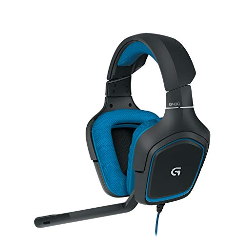 Logitech G430 - Auriculares Gaming para PC, Xbox One, PS4 y Switch, Color...