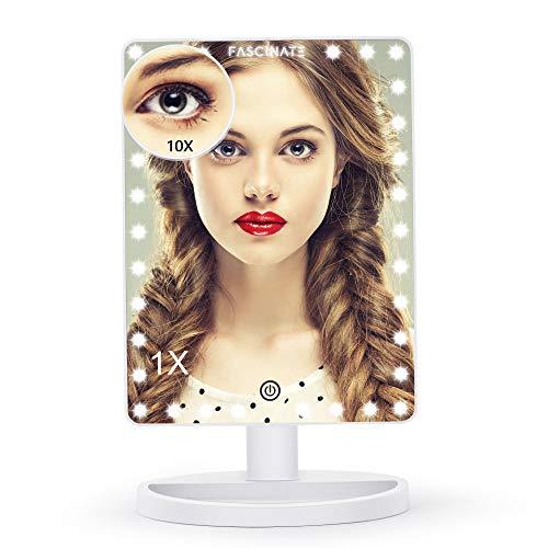FASCINATE Grande Specchio Trucco con Luci 14.5 inch Specchio per Trucco Illuminato con 32 LED Luci...