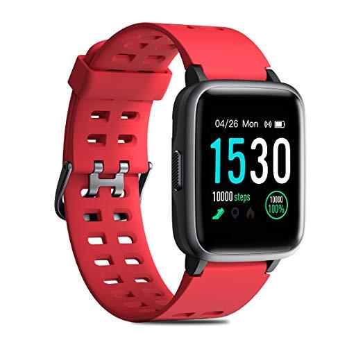 CHEREEKI Fitness Tracker, Smartwatch IP68 Impermeabile con Cardiofrequenzimetro, Contapassi,...