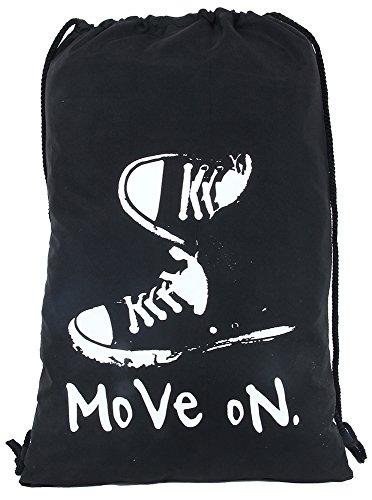 POLE STAR Polyester Black Drawstring Shoulder Backpack