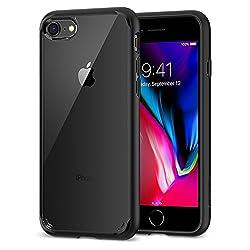 Kaufen iPhone 8 / 7 Hülle, Spigen [Ultra Hybrid 2] iPhone 8 Hülle, Verstärkter Kamera- und Buttonschutz [Schwarz] Zweite Generation des Ultra Hybrids Einteilige Transparent Handyhülle Durchsichtige PC Rückschale mit Silikon TPU Bumper Schutzhülle für Apple iPhone 7 Hülle / iPhone 8 Case Cover - Black (042CS20926)