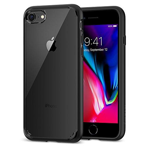 Spigen® [Ultra Hybrid 2 Kompatibel mit iPhone 8/7 Hülle, Einteilige Transparent Schutzhülle für Apple iPhone 7 iPhone 8 Case Black (042CS20926)