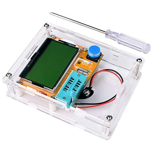 REES52 LCR-T4 Mega328 Transistor Tester ESR Meter MOS NPN/PNP Diode Triode Capacitance with Clear Case